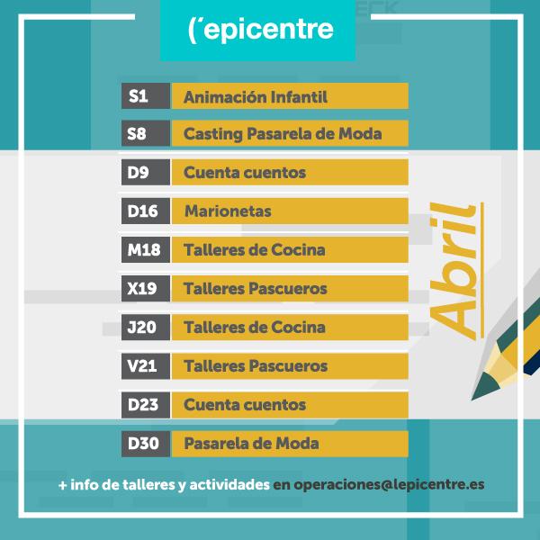 APERTURAS Y ACTIVIDADES MES DE ABRIL-PASCUA 2017
